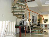 双梁玻璃旋转楼梯