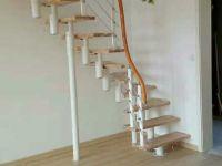 钢木缩颈楼梯